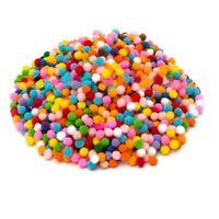 Pompons bunt kleine DIY Hilfsstoff, Mini Pompom Bommel zum Basteln 2cm 200 Stk.
