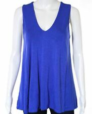 Hawaii Made Women's New Blouse V Neck Tank top Night Fall Blue Size XS