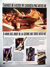 PUBLICITE-ADVERTISING :  Micro SEYMOUR DUNCAN  03/2002 Dweezil,Slash,Blues