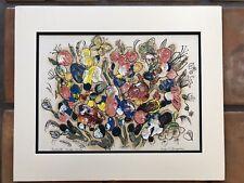 Artist Evelyn C Youngblood Original Monotype Oil-Ink Fantasy VII