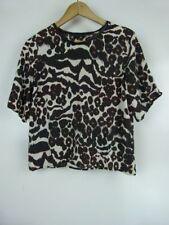 Summer/Beach Animal Print Short Sleeve Tops & Blouses for Women