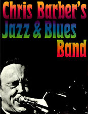 Chris Barber's Jazz and Blues Band ORIGINAL Konzertplakat 1968 ZUSTAND BEACHTEN