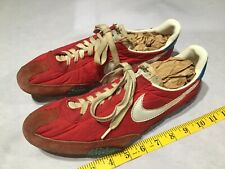 Rare Vintage 1970s Nike Sport Track Running Shoes Red Rw&B w/ Spikes Og Size 10