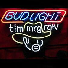 "New Bud Light Tim Mcgraw Bar Cub Party Light Lamp Decor Neon Sign 17""x14"""