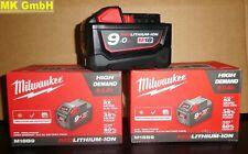 Milwaukee M18B9 Akku 18V-9,0Ah RED Li-Ion High Demand, M18 B9, 4932451245
