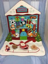 Hallmark Keepsake Kids North Pole Toy Co Countdown Calendar Felt 24 Ornaments