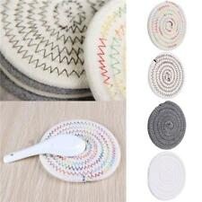Cotton Weave Thicken Placemat Coaster Home Kitchen Heat Insulated Anti-hot Pad J