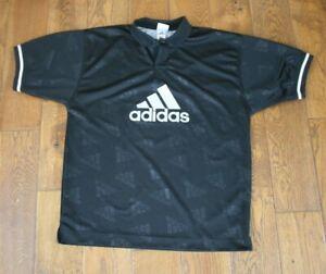 "Men's Vintage 90s Adidas Collared Short Sleeve Jersey Top  UK 42/44"""