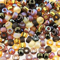 Miyuki Round Seed Beads Rocaille's Size 6/0 Wheatberry Mix 20g (6-MIX04)