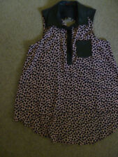 Ladie's Sleeveless blouse Material Girl Size large Leather collar