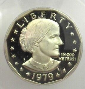 1979-S SUSAN B ANTHONY DOLLAR ICG PR 70 DEEP CAMEO TYPE 2