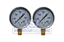 "Liquid Filled Pressure Gauge | 0-300 PSI | 2-1/2"" Face 