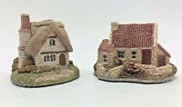 Pair of Vintage Lilliput Lane Penthouse Pavement Ornaments Inglewood and Cottage