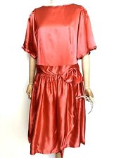 VTG Red Satin Dress Sisi Princess Red Riding Hood Pantomime Christmas Trans L/XL