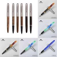 Jinhao 51A Acrylic/Wood Fountain Pen Hooded Iridium Extra Fine EF/F Nib Writing