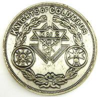 Vintage Knights of Columbus Coin Medal K of C Lady of Rosary Councill 722