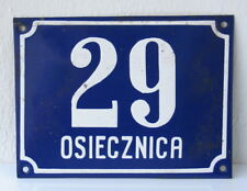 Poland Vintage house number 29 enamel porcelain plate plaque 20x15cm 7.87x5.91in