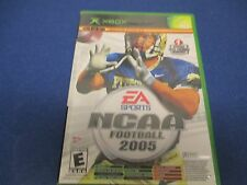 XBOX, NCAA Football 2005, EA Sports, Rated E, Top Spin, Live Online Enabled