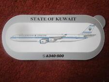 AUTOCOLLANT STICKER AUFKLEBER AIRBUS A340-500 STATE OF KUWAIT KOWEIT