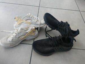 Le Lot De 2 Paire De Basket Nike Presto  Et  Nike Huarache  T 38,5 et 39