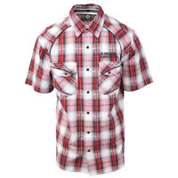 Harley-Davidson Men's Red White Plaid S/S Woven (S14)