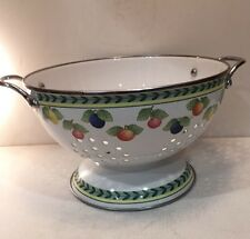 Villeroy & Boch Footed Drainer With Handles Fruit Design