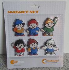 6 Magnete Mainzelmännchen im Blister