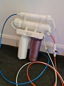 4 stage Reverse osmosis water filter system Marine Tropical Reef DD RO UNIT USED