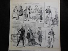 Original 1903 S A H Robinson lllustration - Oliver Twist, Theatre, Daily Graphic