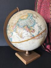 Old World Globe with Wooden Base & Metal Frame …Made in USA