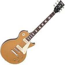 Vintage V100GT nouveau tirage série guitare électrique-Gold Top