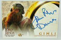 Lord of The Rings Fellowship LOTR FOTR John Rhys Davies As Gimli Autograph Card