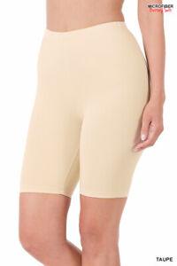 Zenana Bike Shorts Buttery Soft Elastic Waist Stretch Soft S-XL Plus 1X-2X-3X
