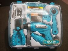 BOYS TOOL KIT PLAY SET WITH CARRY CASE HANDY PLAYSET FUN TOOLS  XMAS GIFT TOY