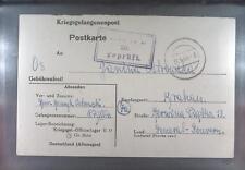 Camp Oflag IID Grossborn 1944 POW Prisoner of War Kriegsgefangenenpost (K20c)