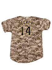 Pittsburgh Pirates Jaff Decker #14 Camo Jersey Youth XL