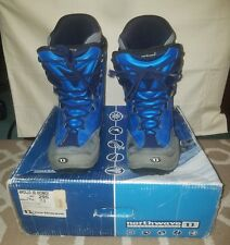 New listing Mens Size 11.5 Northwave Snowboard Boots Apollo 3D Biomex Blue & Black Snw99114B