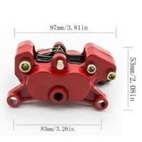 Aluminum Red Brake Caliper Motorcycle Cylinder Hydraulic Pump 4 Piston