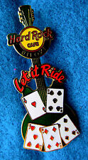 New listing Biloxi *Let It Ride* Card Green Table Gaming Guitar Series Hard Rock Cafe Pin Le