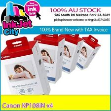 4x CANON KP108IN Ink/Paper Set (4*108x Postcard)=>Selphy CP730 CP800 CP900 CP910