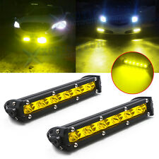 18W Yellow LED Daytime Running Light Lamp Kit w/ Relay Wire Harness For Car SUV