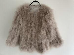 Topshop Marabou Feather Jacket UK 8