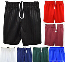 Boys Girls Children School Sports Shadow Stripe PE Shorts Kids Football Shorts
