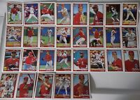 1991 Topps St. Louis Cardinals Team Set of 30 Baseball Cards With Traded