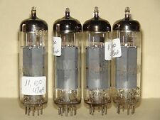 """Quad Amperex Holland Hammond """"rx4"""" EL84 6BQ5 Vacuum Tube Very Strong and Matched"""