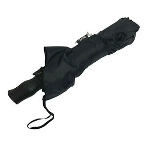 Totes Sport Auto Open Umbrella One Touch Open Black 7107 New