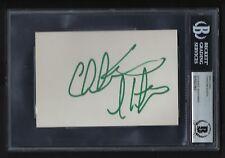 Christian Slater signed 4x6 card BAS Authenticated Golden Globe Winner
