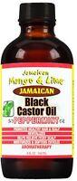 Jamaican Mango - Lime Jamaican Black Castor Oil, Peppermint 4 oz (Pack of 2)