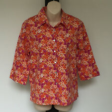 'LAURIE McCARTHY' EC SIZE '14' BUTTON FRONT 3/4 SLEEVE SHIRT WITH SIDE SPLITS