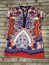 Alberto Makali woman's Dress/ tunic size L Floral  detail Length 32